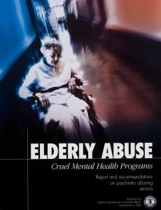 Overgreb mod ældre, chokerende programmer for psykiatisk sundhed