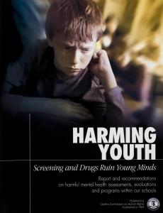 Se daña a la juventud, las acciones de clasificación y las drogas arruinan lasmentes jóvenes